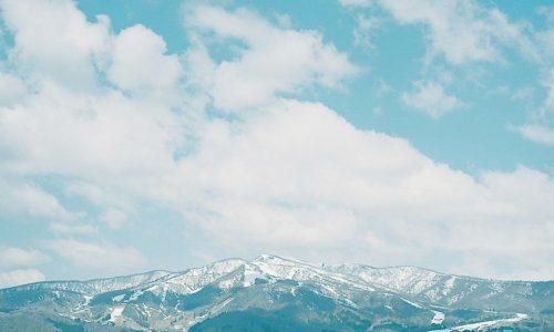 残雪の大日ヶ岳