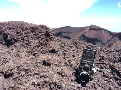 富士山頂のローライフレックス